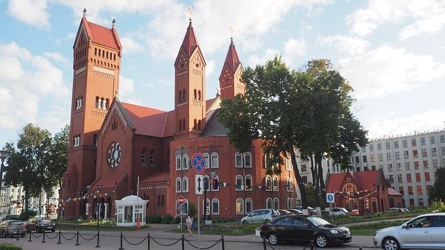 Minsk, The Red Church, Belarus