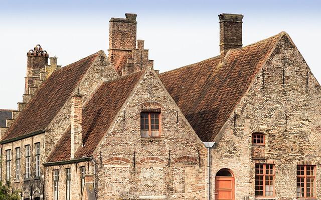 Bruges, Belgium, Facade, Battlements, Old Town