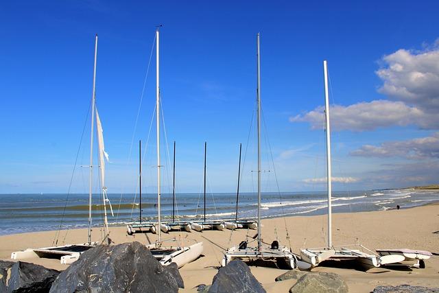 Oostende, Belgium, North Sea, City, Blue, Sea, Sky