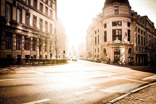 Brussels, Belgium, City, Street, City center