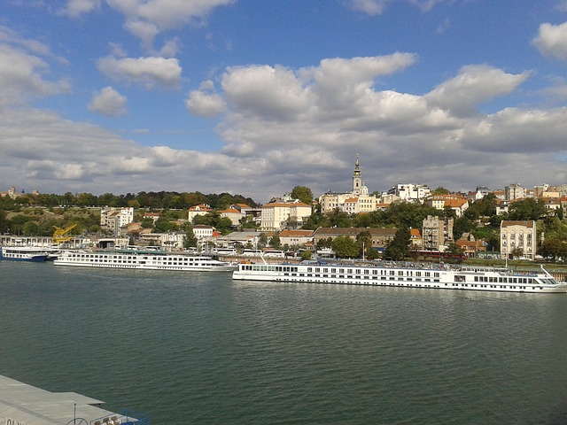 Belgrade, Serbia, Town, Clouds, Architecture, Boats
