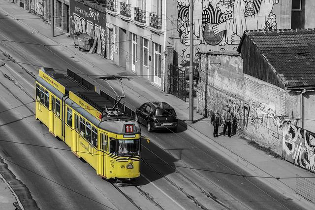 Belgrade, Train, Street, Serbia, Architecture, Way