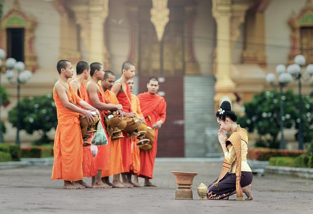 Monks, Praying, Prayer, Bangkok, Asia, Believe, Buddha