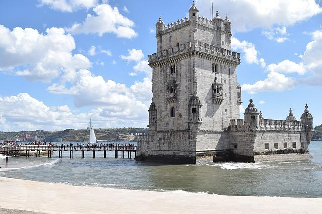 Portugal, Lisbon, Belim, Torre De Belim, Water, Beach