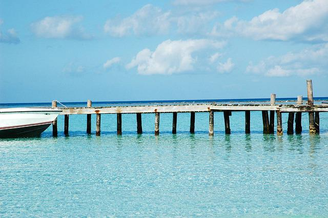 Belize, Sea, Bridge, Stilt, Wharf, Turquoise