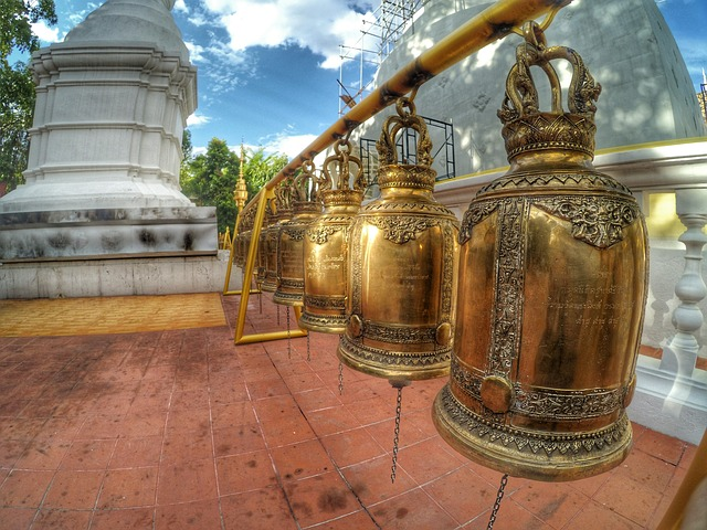 Measure, Chiang Mai Thailand, Bell, Wat Phra Singh