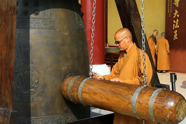 Taiwan, Monks, Bell