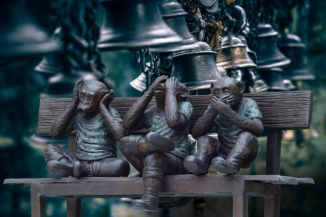 Bells, Noise, Crash, Three Monkeys