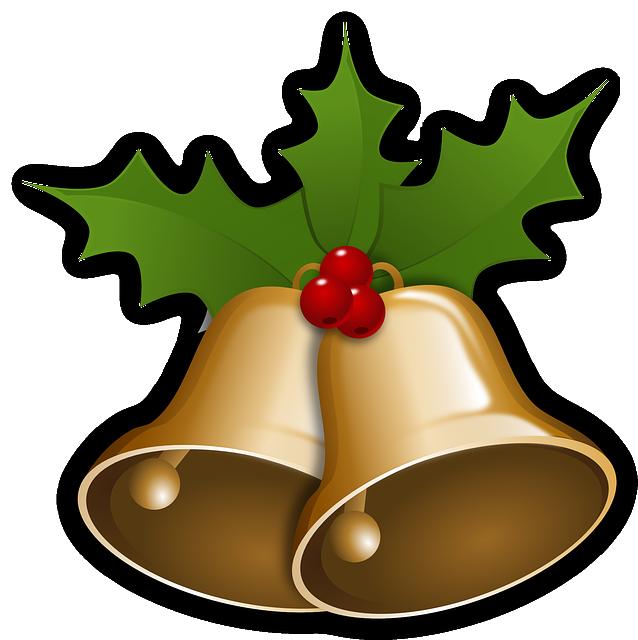 Bells, Christmas, Xmas, Holly, Decoration