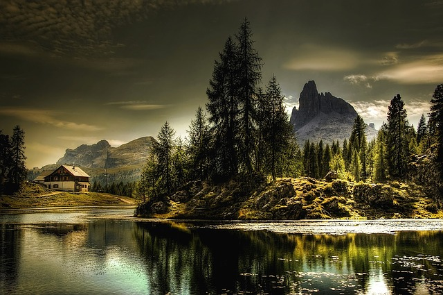 Lago Federa, Belluno, Italy, Dolomites, Lake, Nature
