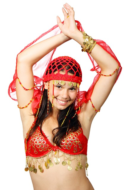 Attractive, Belly, Costume, Dance, Dancer, Eastern
