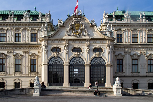 Vienna, Castle, Belvedere, Facade