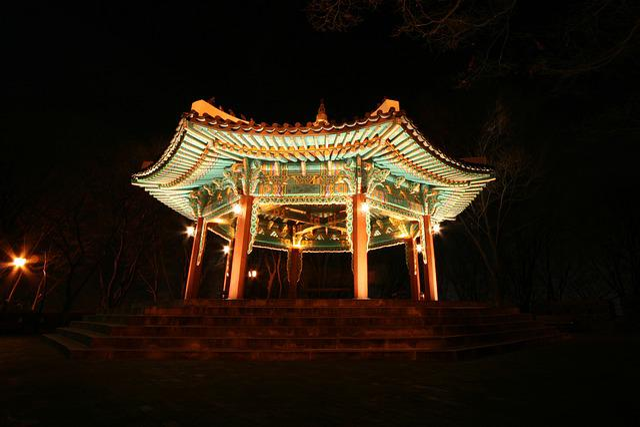 Belvedere, Hanok, Home, Night Scenery, Night View