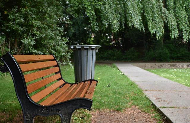 Bench, Public Garden, Public Bench, Perspective, Allee