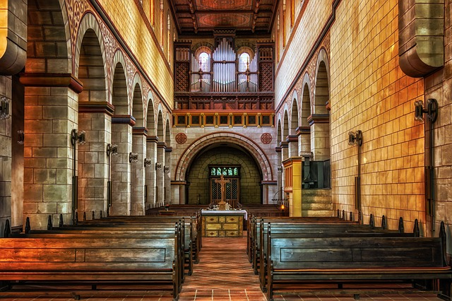 Church, Religion, Benches, Church Pews, Architecture