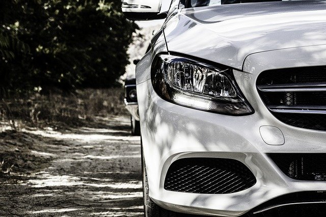 Mercedes, Benz, White, Modern, Vehicle, Transportation