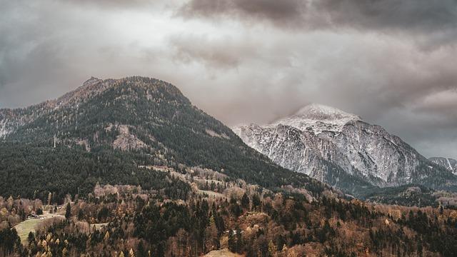 Mountains, Alpine, Berchtesgaden, Bavaria, Background