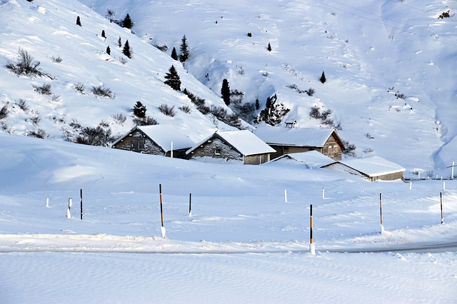 Snow, Winter, Bergdorf, Alpine, Switzerland, Village