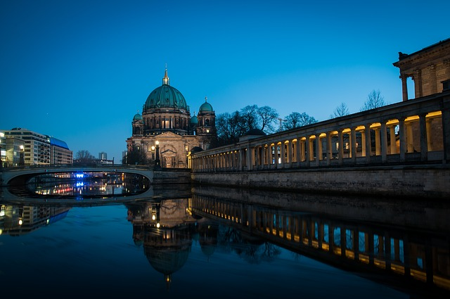 Architecture, Travel, City, River, Water, Berlin