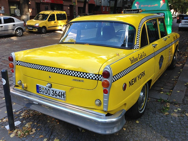 Nyc Taxi, Taxi, Berlin, Yellow Cab, Old, Auto
