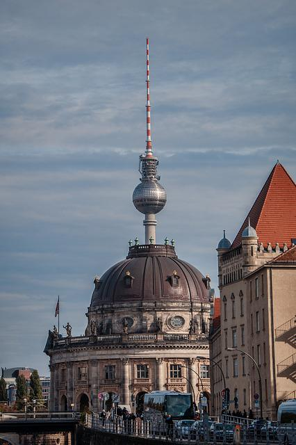 Berlin, Bode Museum, Tv Tower, Line-of-sight