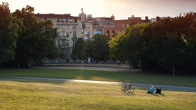 Park, Lichtspiel, Berlin, Kreuzberg, Rest