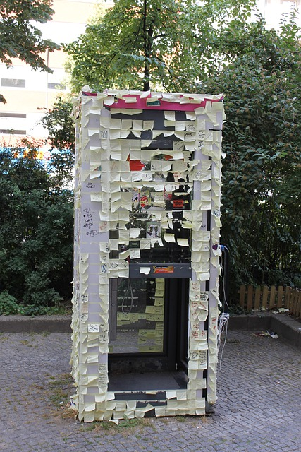 Postit, Berlin, Phone Booth, Notes