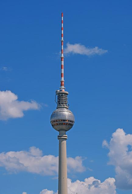 Tv Tower, Berlin, Radio Mast, View, Places Of Interest