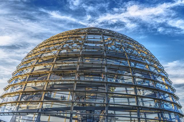 Bundestag, Dome, Reichstag, Berlin, Glass Dome