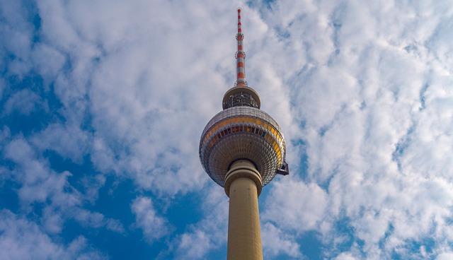 Sky, Tower, High, Tv Tower, Berlin, Building