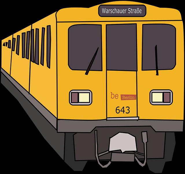 Berlin, German, Germany, Subway, Train, Yellow