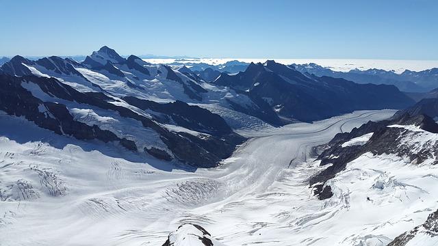 Great Aletsch Glacier, Glacier, Bernese Oberland