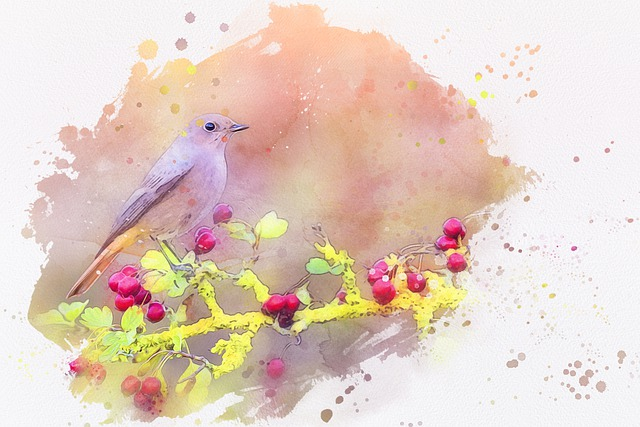 Bird, Animal, Wildlife, Branch, Berries, Nature