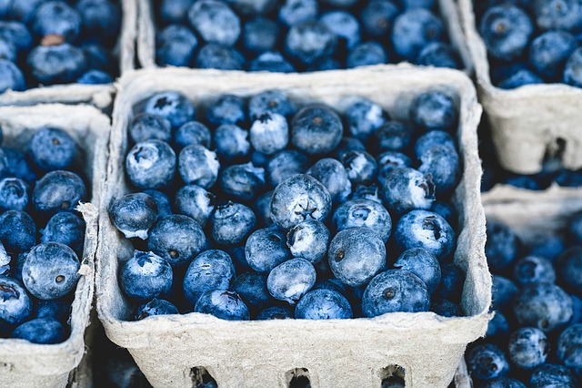 Blueberries, Bunch, Berries, Fruits, Bunch Of Berries