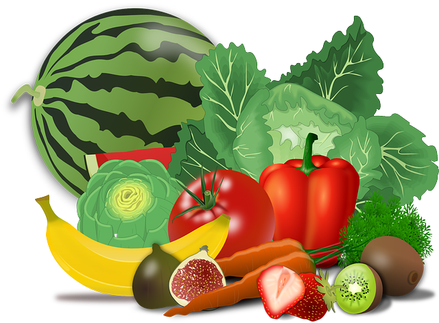 Fruits, Vegetables, Artichoke, Banana, Berries, Cabbage