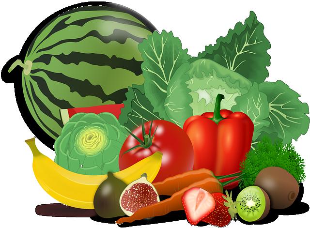 Fruits, Vegetables, Artichoke, Banana, Berries, Cabbage