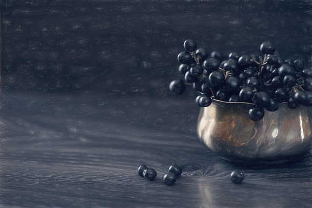 Image, Draw, Privet, Privet Berries, Berries, Dark Blue