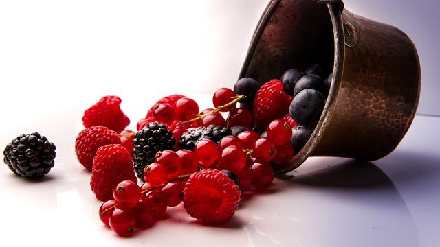 Berries, Fruits, Vegetarian, Vegan, Healthy Diet