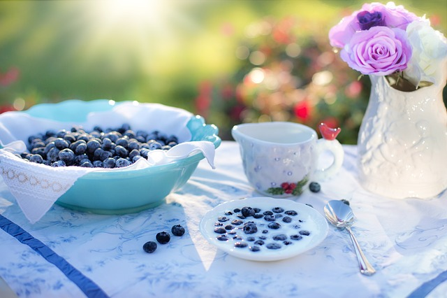 Blueberries, Dessert, Breakfast, Food, Berry, Fruit