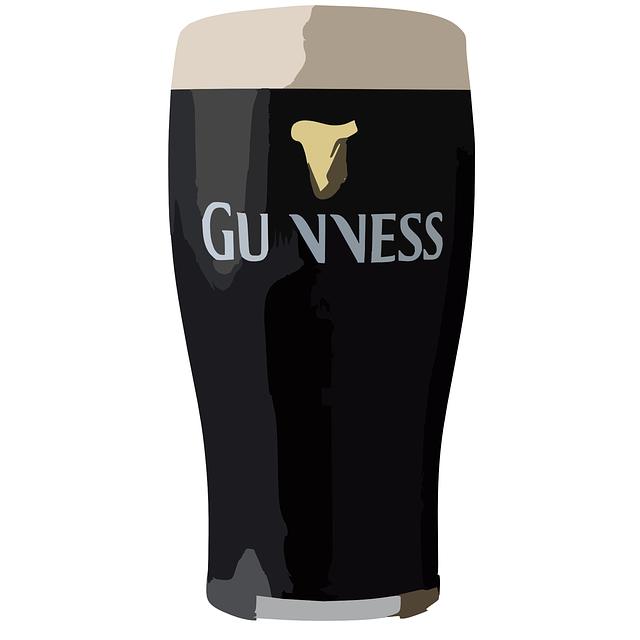 Guinness, Bear, Black, Glass, Alcohol, Beverage