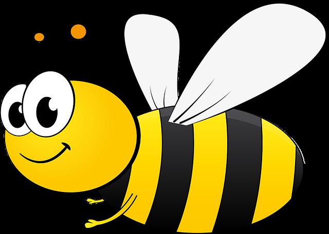 Bee, Bi, Cartoon, Honey, Insect, Pollinate, Sting