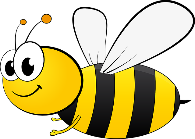 Bee, Bi, Cartoon, Honey, Insect, Pollinate, Sting