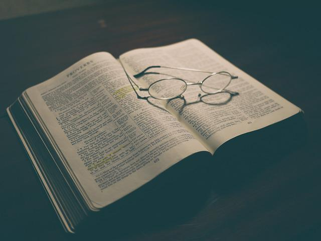 Bible, Book, Eyeglasses, Pages, Reading