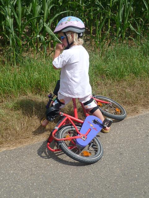 Child, Bicycle Helmet, Bike, Fall, Failure, Learn