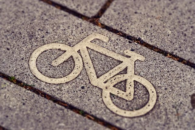 Bicycle Path, Road Sign, Bicycle Sign, Road Marking