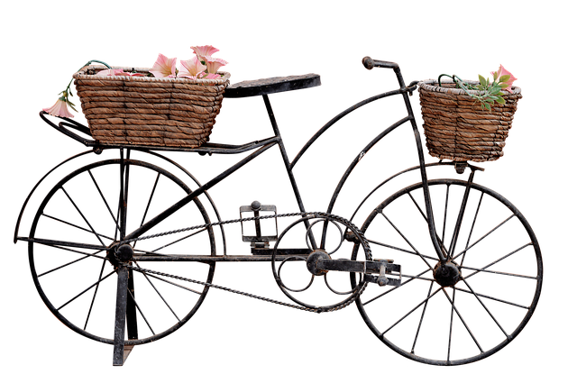 Png, Bicycle, Trim, Bicycle With Baskets, Bike Ornament