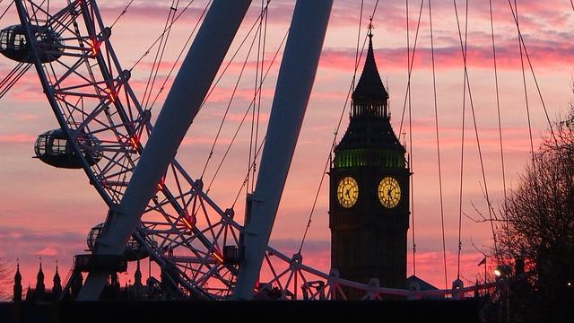 London Eye, London, Big Ben, Ferris Wheel, England