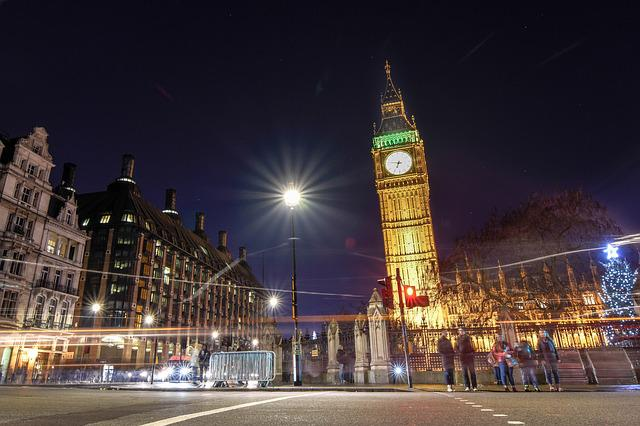 Big Ben, Clock Tower, Landmarks, Night View, The Night