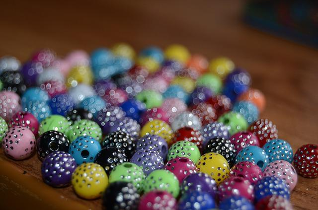 Beads, Bijouterie, Circle, Stains, Bright