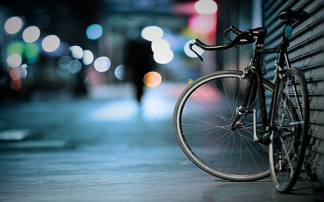 Bicycle, Bike, Bokeh, Lights, Macro, Pavement
